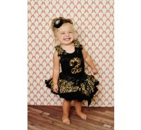 Leopard Birthday Petti Skirt 2 Pc Setkirt Set One-Two-Three