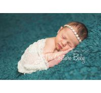June Pearl Birthstone Rhinestone Halo Headband
