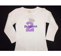Sparkle Princess Personalized Birthday Shirt