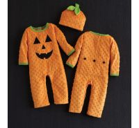Pumpkin One Piece & Hat Mud Pie
