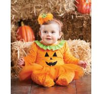 Tutu Pumpkin 1 Pc W/ Headband Mud Pie Halloween