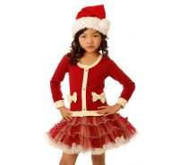 Red Coco HoHoHo Cardigan Dress Ooh La La Couture
