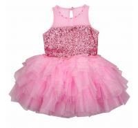 Pink Lady Tulle Necklace Sequin Dress Ooh La La Couture