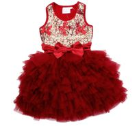 Red Bows Sequin Wow Dress with Cardigan Ooh La La Couture  Christmas Holiday