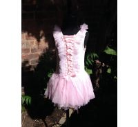 Pink Tulle Ribbon Tie Dress