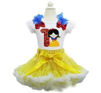 Snow White Birthday Pettiskirt Set Age 1 2 3 4 5