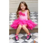 Hot Pink & Pink Little Bow Party Dress Ooh La La Couture