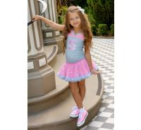 Silver & Pink Varisty Birthday Dress