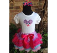Abby Shirt, Petti Skirt & Headband 3 Piece Set
