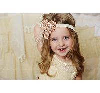 Satin Cluster Feather Headband