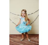 Elsa Birthday Pettiskirt Set Ages 1 2 3 4 5 Frozen
