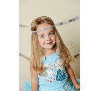 Frozen Blue Rhinestone Halo Headband