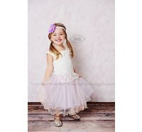 Lavender & Pink Pink Lace Tulle Vintage Dress
