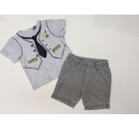 Jazzy Baby Check Shorts & Tie & Vest Boys Cool Short Set