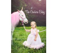 Pink Rosette Feather Birthday Party Dress