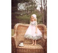 Pewter & Rose Pink Tulle Feather Dress