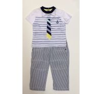 Sailing Tie Seersucker Shirt, Pants & Sock Set