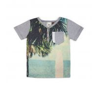 S/S Sublimation Beach Print Print Henley Fore Axel and Hudson