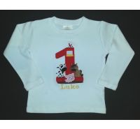 Farmer in the Dell Personalized Boys Birthday Shirt