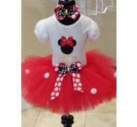Mouse Personalized 3 pc Red or Pink Tutu Set