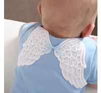 Heaven Sent Angel Wings Blue Onesie