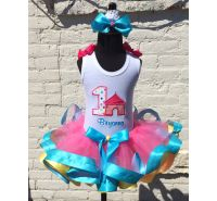 Colorful Carnival Birthday Ribbon Tutu Set