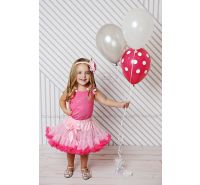 Hot Pink Crystal Rhinestone Birthday Pettiskirt Set Ages 1 2 3 4 5