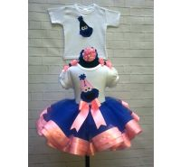 Cookie Personalized & Custom Blue & Pink Twin Ribbon Tutu & Brother Shirt Set