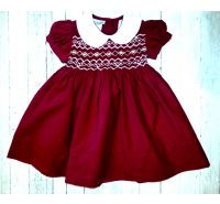 Cranberry Smocked Dress