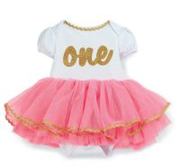 Gold One Tutu Crawler Mud Pie