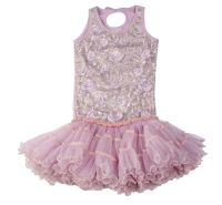 Lilac & Blue Ice Rose Floral Poufy Dress Ooh La La Couture